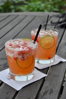 Strawberry Margaritas at The Roost at Topnotch Resort