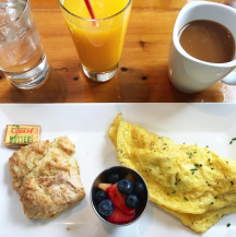Omelette & Homemade Biscuit at Butler's Pantry