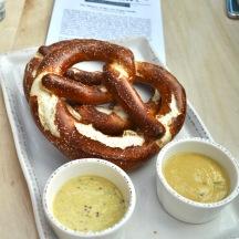 Pretzels & Mustard at the von Trapp Bierhall | Eat Stowe