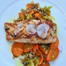 Salmon at the von Trapp Bierhall | Eat Stowe