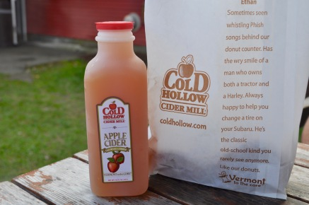 Apple cider at Cold Hollow Cider Mill
