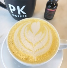 Tumeric Latte infusion with EMT CBD at PK Coffee
