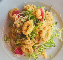 Calamari Salad at Michaels' on the Hill