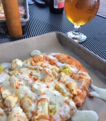 Buffalo Chicken Flatbread at Tap 25